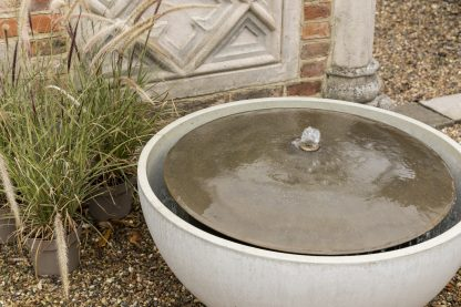 Solus Dome water feature with brass fittings