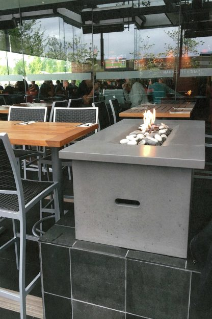 Solus Firetable in Cinder colour at a Cactus Club restaurant