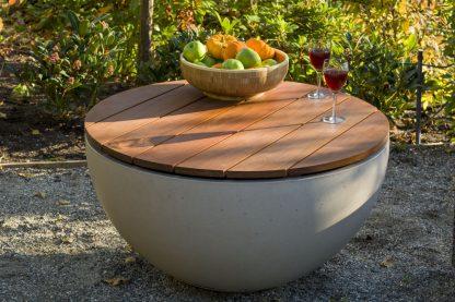 Solus Hemi Firepit IPE Wood Table Top