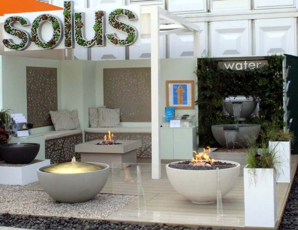 The Solus stand at the 2017 RHS Chelsea Flower Show