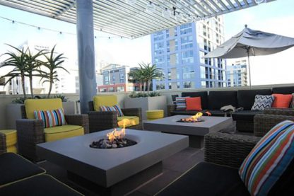 Elevated Halo fire pit Urbana San Diego
