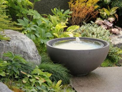 Solus dome water feature - portland colour stainless steel dome