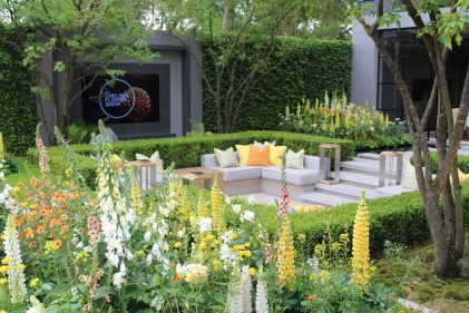 LG Eco City Garden, Contemporary firepit, contemporary water feature, outdoor living, Hay-joung Hwang