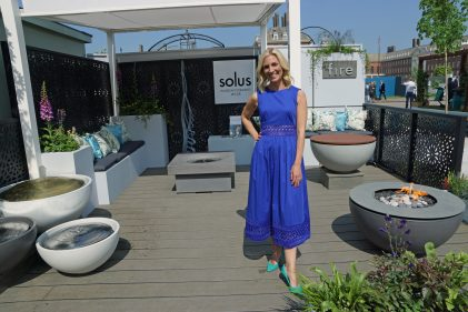 solus decor, firepits, waterfeatures, sky news., sarah hewson. rhs chelsea.