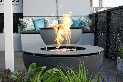 Solus Decor Metal Drinks Ring Hemi Fire Pit