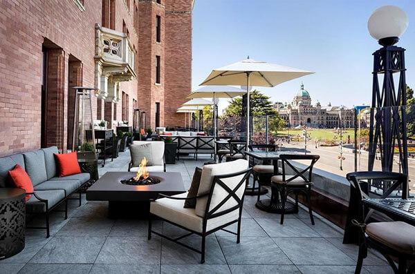 solus fire pit fairmont empress hotel