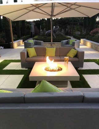 outdoor fire pit in Essex